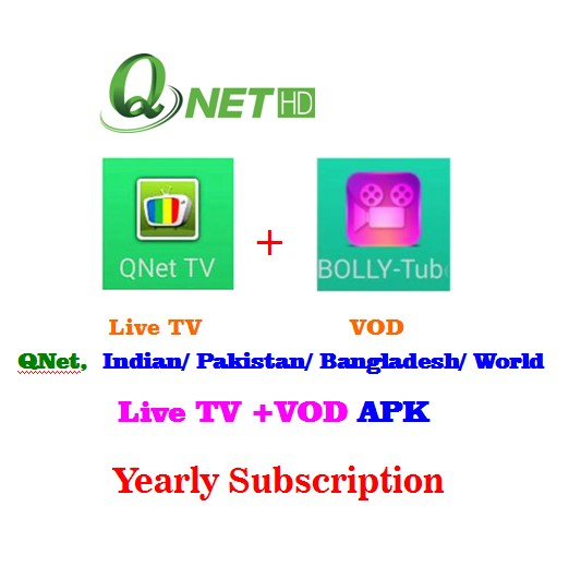 QNetTV, Indian/ Pakistan/ Bangladesh/ World IPTV+VOD APK